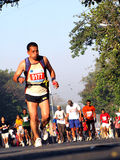Seitentriebe in mumbai Marathon 2010 Lizenzfreie Stockfotos