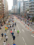 Seitentriebe an Tokyo-Marathon 2008 stockfotos