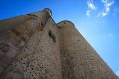 Seitenturm Alcazar Segovia Stockfotografie