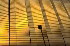 Seitenvorhang des footbal Stadions mit Scheinwerferlicht lizenzfreie stockfotografie