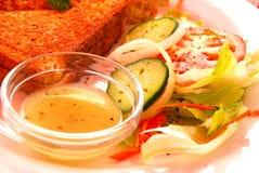 Seitlicher Salat Lizenzfreie Stockbilder
