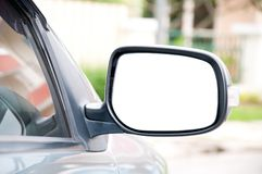 Seitliches Spiegel-Auto Stockfotografie