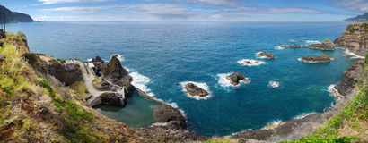 Seixal natural ocean pools, Madeira Stock Image