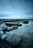 Seixos coloridos na baía de Dunraven Imagens de Stock Royalty Free