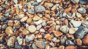 Seixos coloridos na praia de Brigghton fotografia de stock royalty free