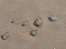 Seixos lavados areia Imagem de Stock Royalty Free