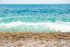 Seixos na costa Fotografia de Stock