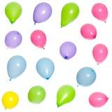 Seize ballons multicolores Photographie stock libre de droits