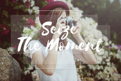 Seize Moments Enjoyment Positive Relaxation Concept royalty free stock image