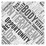 Seize The Opportunity And The Job The Interview word cloud concept word cloud concept vector background Royalty Free Stock Photo