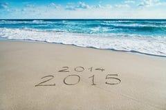 Seizoen 2014-2015 concept op overzees strand Royalty-vrije Stock Foto's