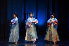 Seizoen-cultuur-rug drie aan de paleis-moderne dramakeizerinnen in het Paleis Stock Foto's