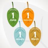 Seizoenenkalender Royalty-vrije Illustratie