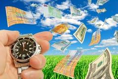 Seizoengebonden (de zomer) financiële prestaties. Royalty-vrije Stock Afbeelding