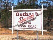 Seizoengebonden sluitingsteken in Australië stock afbeelding