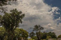 Seizoengebonden stormachtig de zomerweer Gauteng South Africa royalty-vrije stock afbeelding