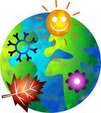 Seizoengebonden wereld vector illustratie