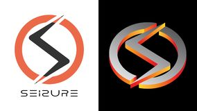 SEIZURE Beautiful simple circle logo with letter S and Z both touch vector illustration