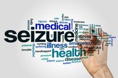 Seizure word cloud Stock Image