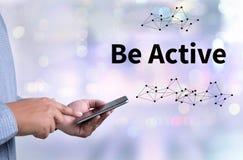 Seja ação energética ativa a ser ativa Imagem de Stock Royalty Free