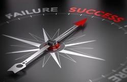 Seja bem sucedido - sucesso contra a falha Imagens de Stock Royalty Free