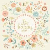 Seja cartão feliz Imagens de Stock Royalty Free