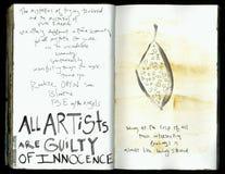 Seja com a colagem feito a mão Art Journal da sabedoria louca do artista dos anjos ilustração royalty free