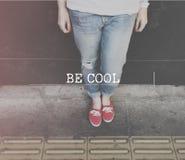 Seja conceito à moda elegante na moda chique impressionante fresco fotografia de stock
