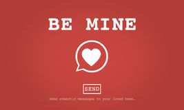 Seja conceito de Valentine Romance Heart Love Passion da mina imagens de stock