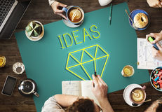 Seja conceito novo criativo do gráfico da inovação da imaginação imagens de stock