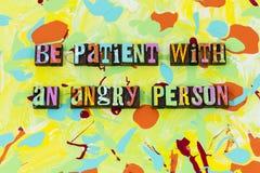 Seja confiança irritada paciente da honestidade da virtude da paciência da pessoa ilustração do vetor