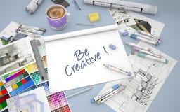 Seja creativo Imagens de Stock