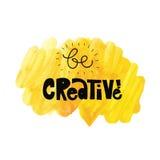 Seja creativo Ilustração do vetor Imagens de Stock Royalty Free