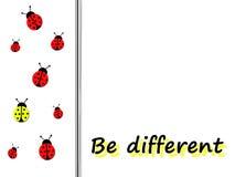 Seja diferente Imagem de Stock