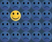 Seja diferente, ilustração do VETOR, Smiley Faces Glossy Balls Background ilustração do vetor