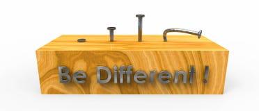 Seja diferente (o prego da curvatura) Fotografia de Stock Royalty Free