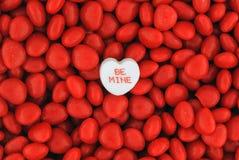 Seja doces da mina sobre Valentine Candies pequeno Fotografia de Stock Royalty Free