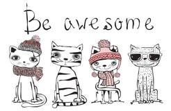 Seja gato impressionante ilustração royalty free