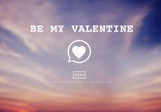 Seja meu conceito de Valentine Romance Heart Love Passion Foto de Stock Royalty Free
