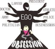 Seja meu ego - obsessão parental - arte da sátira ilustração stock
