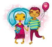 Seja meu Valentim 1 ilustração royalty free