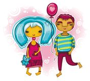 Seja meu Valentim 2 ilustração stock