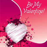 Seja meu Valentim - cor-de-rosa Foto de Stock Royalty Free