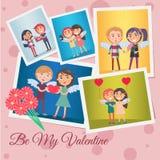 Seja meu Valentine Festive Banner Vetora Illustration ilustração royalty free