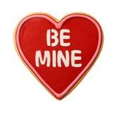 Seja mina Valentine Cookie dado forma coração foto de stock royalty free