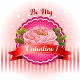 Seja minha flor bonita do cartão do Valentim ilustração do vetor