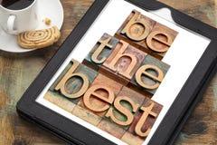 Seja o melhor em uma tabuleta Fotografia de Stock Royalty Free