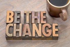 Seja o sumário da palavra da mudança no tipo de madeira Imagem de Stock