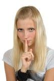 Seja silêncio Fotos de Stock