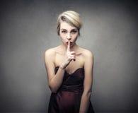 Seja silencioso Fotografia de Stock